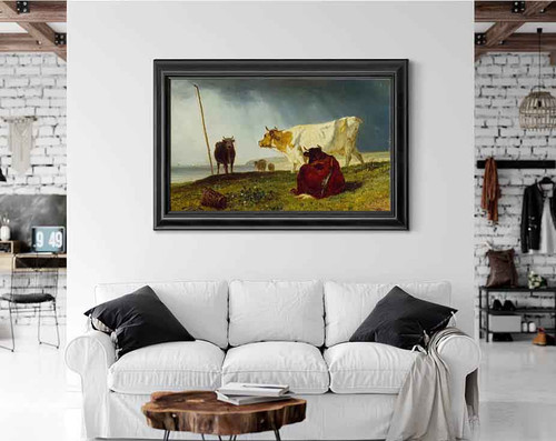 Cattle In Stormy Weather By Constant Troyon