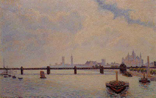 Charing Cross Bridge, London By Camille Pissarro