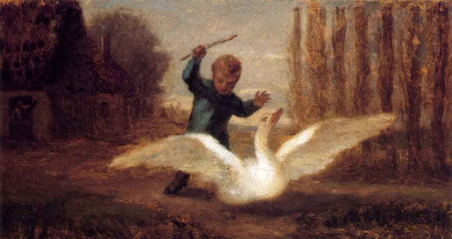 Chasing The Goose By William Morris Hunt