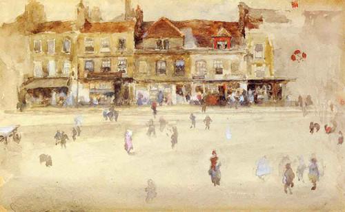 Chelsea Shops By James Abbott Mcneill Whistler American 1834 1903
