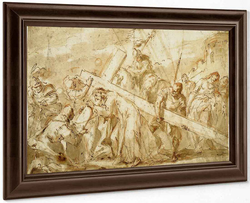 Christ Carrying The Cross By Gaspare Diziani