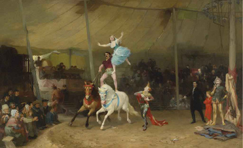 Circus In France By Frederick Arthur Bridgman