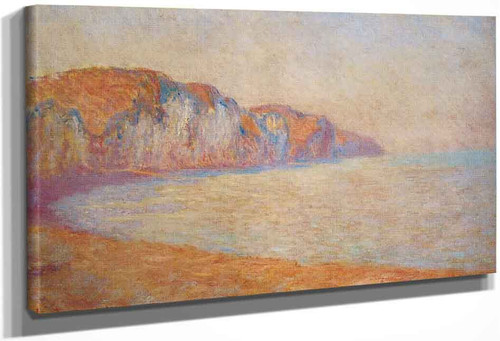 Cliff At Pourville In The Morning By Claude Oscar Monet