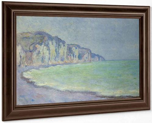 Cliff At Pourville By Claude Oscar Monet