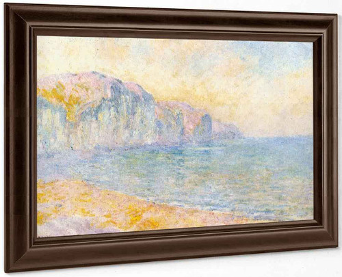 Cliffs At Pourville, Morning By Claude Oscar Monet