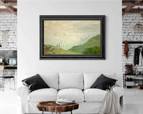 Cliffs At Pourville By Claude Oscar Monet