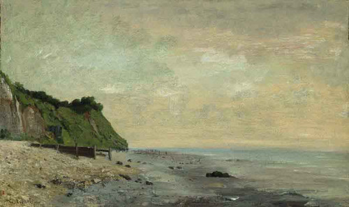 Cliffs On The Sea Coast By Gustave Courbet
