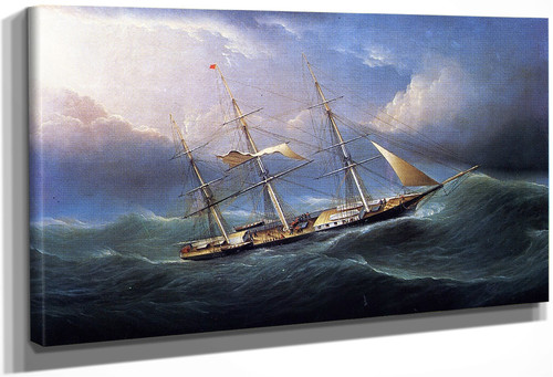 Clipper In A Gale By James E. Buttersworth