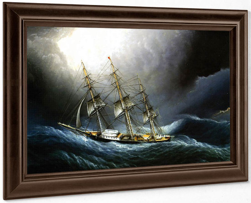 Clipper Ship At Cape Horn By James E. Buttersworth