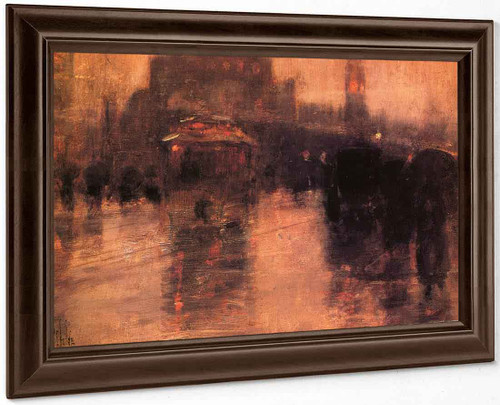 Columbus Avenue, Boston By Frederick Childe Hassam
