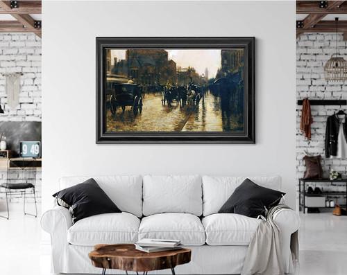 Columbus Avenue Rainy Day By Frederick Childe Hassam
