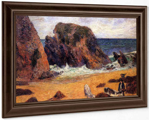 Cows By The Sea By Paul Gauguin