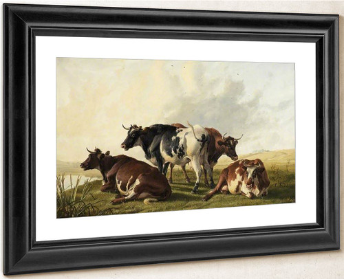 Cows By Thomas Sidney Cooper By Thomas Sidney Cooper