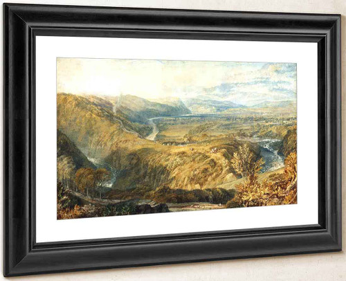 Crook Of Lune, Looking Towards Hornby Castle By Joseph Mallord William Turner