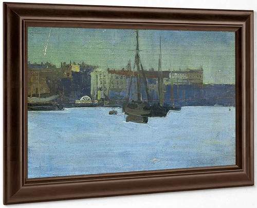 Dieppe Harbour, France By Walter Richard Sickert By Walter Richard Sickert