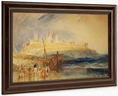 Dunstanborough Castle, Northumberland By Joseph Mallord William Turner