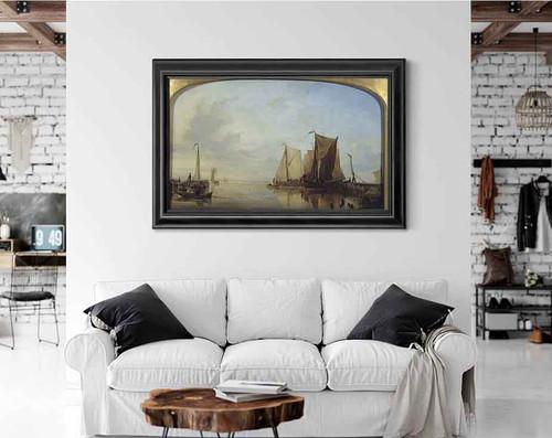Dutch Boats In A Calm By Edward William Cooke, R.A.