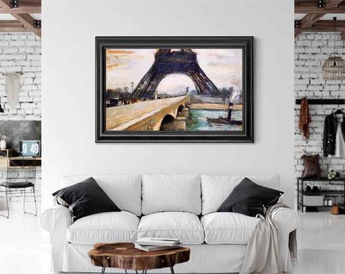 Eiffel Tower By Lesser Ury