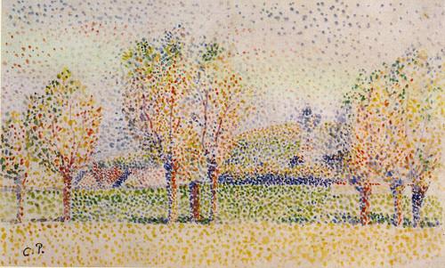 Eragny Landscape By Camille Pissarro