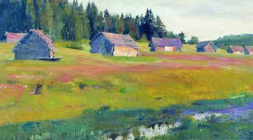 Evening By Sergei Arsenevich Vinogradov Russian 1869 1938