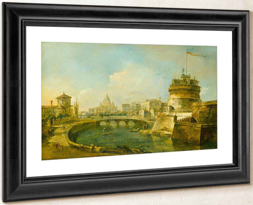 Fanciful View Of The Castel Sant'angelo, Rome By Francesco Guardi