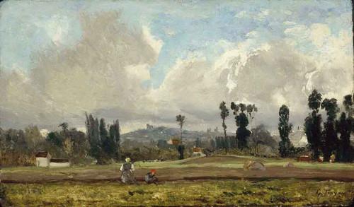 Field Outside Paris By Constant Troyon