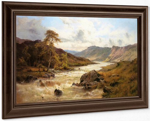 Fishing At Capel Curig, North Wales By Alfred De Breanski, Sr.