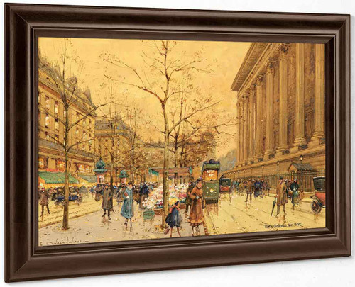 Flower Market, La Madeleine By Eugene Galien Laloue