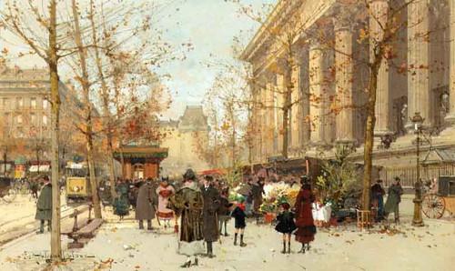 Flower Market 1 By Eugene Galien Laloue