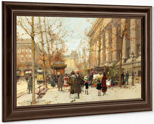Flower Market 1 By Eugene Galien Laloue