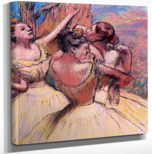 Three Dancers2 By Edgar Degas Art Reproduction