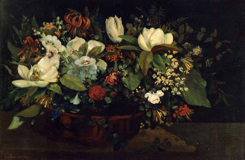 Flowers By Gustave Courbet