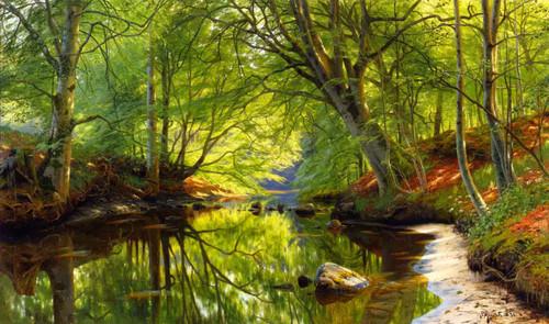 Forest Stream By Peder Mork Monsted