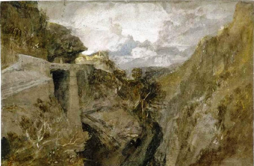 Fortified Pass, Val D' Aosta By Joseph Mallord William Turner