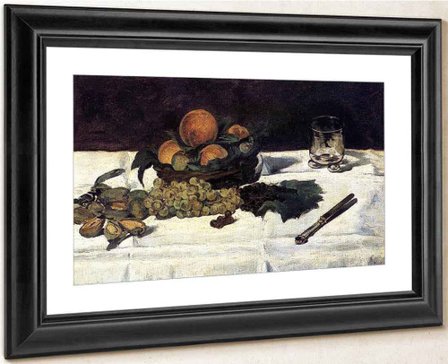 Fruit On A Table By Edouard Manet