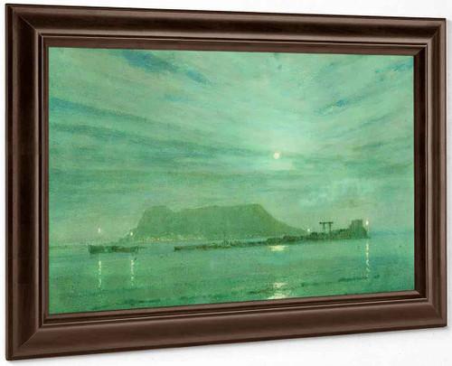 Gibraltar From Algeciras By Albert Moulton Foweraker