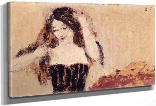 Girl Fixing Her Hair By Edouard Vuillard