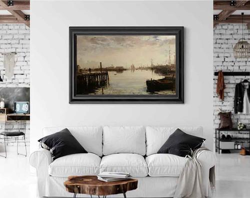 Gloucester Harbor 2 By William Morris Hunt