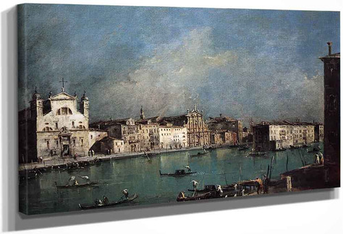 Grand Canal And Santa Lucia And The Scalzi Church By Francesco Guardi