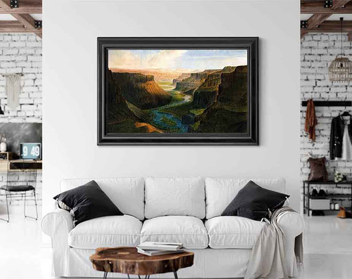 Grand Canyon Of Palouse River By James Madison Alden By James Madison Alden