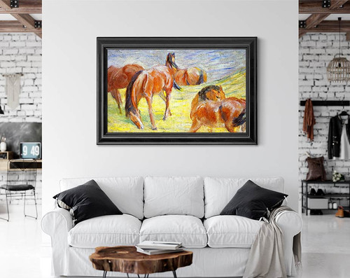 Grazing Horses By Franz Marc By Franz Marc