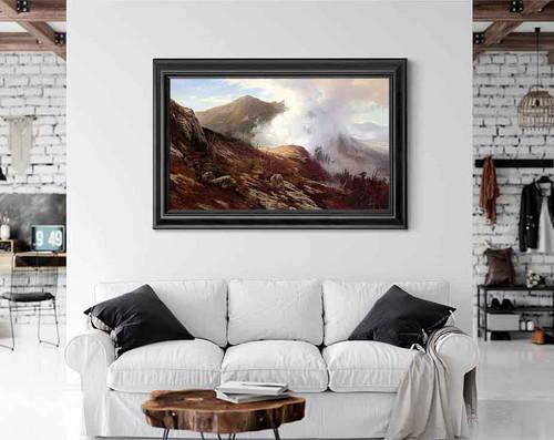Half Way Up Mt. Washington By Edward Moran
