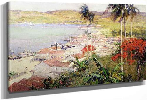 Havana Harbor By Willard Leroy Metcalf