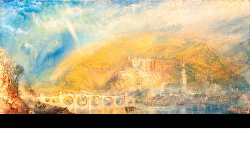 Heidelberg With A Rainbow By Joseph Mallord William Turner