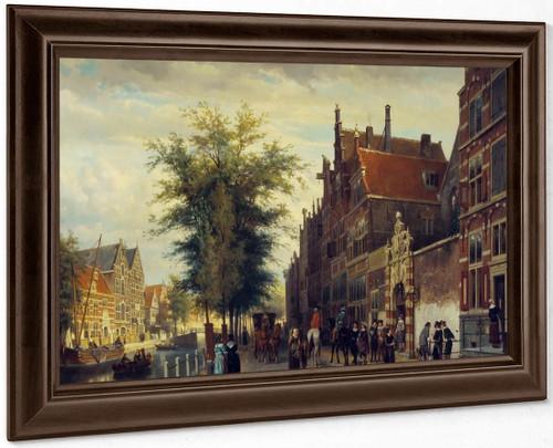 Het Atheneum Illustre Aan De Oudezijds Voorburgwal Te Amsterdam By Cornelius Springer