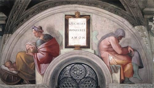 Hezekiah Manasseh Amon By Michelangelo Buonarroti By Michelangelo Buonarroti