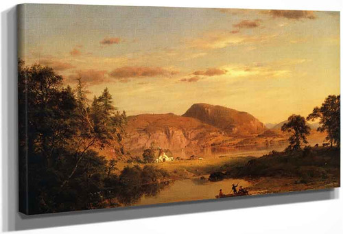 Home By The Lake 1 By Frederic Edwin Church By Frederic Edwin Church