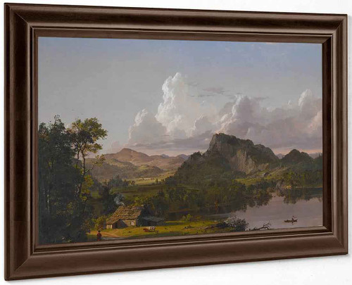 Home By The Lake By Frederic Edwin Church By Frederic Edwin Church