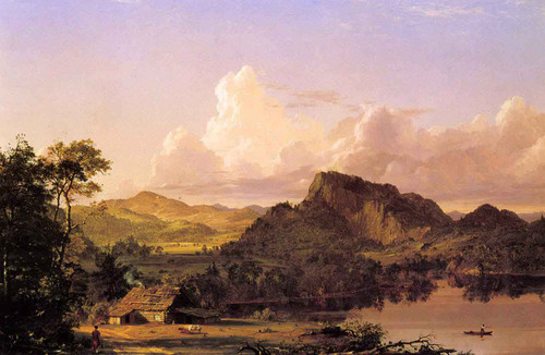 Home Of The Pioneer By Frederic Edwin Church By Frederic Edwin Church