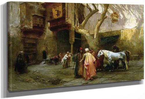 Horse Market At Cairo By Frederick Arthur Bridgman